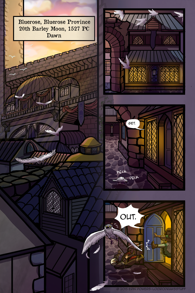 The bird in panel 3 didn't see anything to eat, just wanted to peck at a cobblestone. You tell 'em, bird.