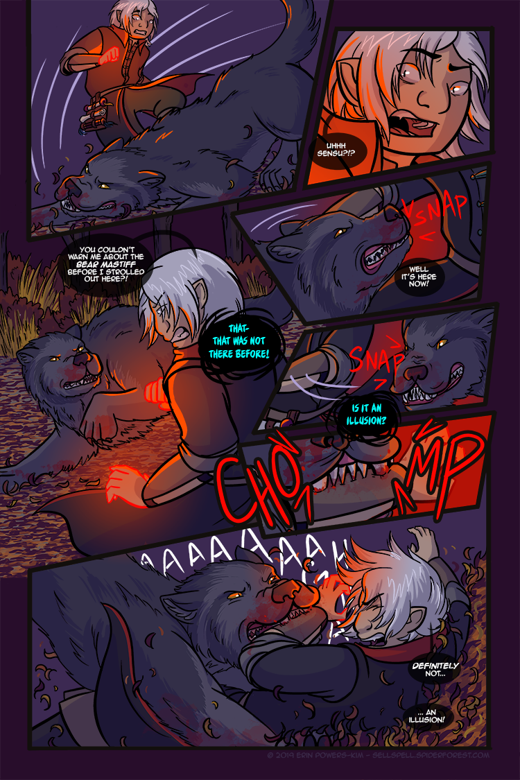 """The sick bastard in me was all """"yaaaay I get to draw some blood again!"""" on this page and I thought you all deserved to know. I love my characters, I swear."""